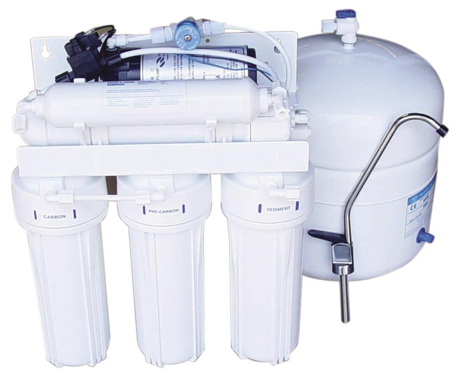 .RO585P 5-stage 85 gal/day Reverse osmosis system + booster pump