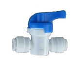 "AHUC-0707 Inline Ball Hand Valve Union 1/2"" tubing Quick Connect"